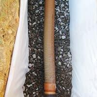 Способ укладки геоткани для дренажных систем